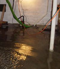 Several feet of floodwaters in a Clarkston basement